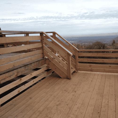 Escalier de terrasse bois